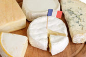 Sorts of french cheese — Stock Photo