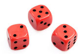 Three Dices — Stock Photo
