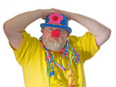 Clown with false nose — Stock Photo
