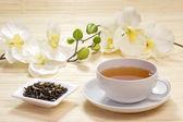Cup of jasmine tea — Stock Photo