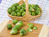 Fresh brussels sprouts — Stock fotografie