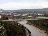 Clifton suspension bridge in bristol,uk — Stock Photo