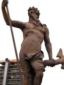 Statue of Neptune in the city centre — Stock Photo