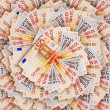 Background of the euro banknotes - Stock Photo