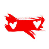 Two red heart, drawn by hand — Stock Photo