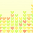 Colored hearts in a mosaic — Stock Photo