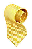 Roll of golden tie — Stock Photo