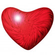 Red heart on a white background — Stockfoto