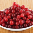 Fresh cranberries on a plate — Stock Photo