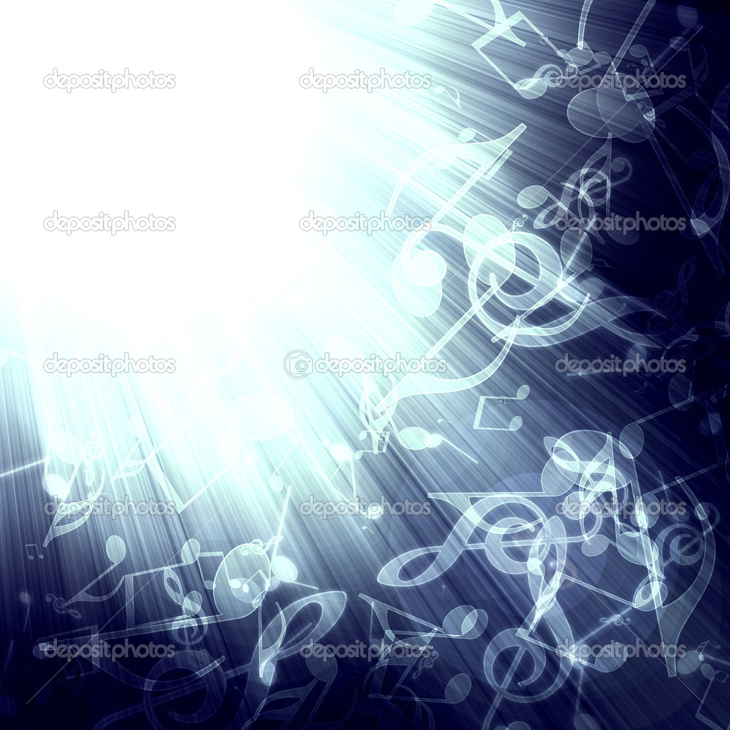 Abstract musical background with rays in the dark — Stock Photo #1633921