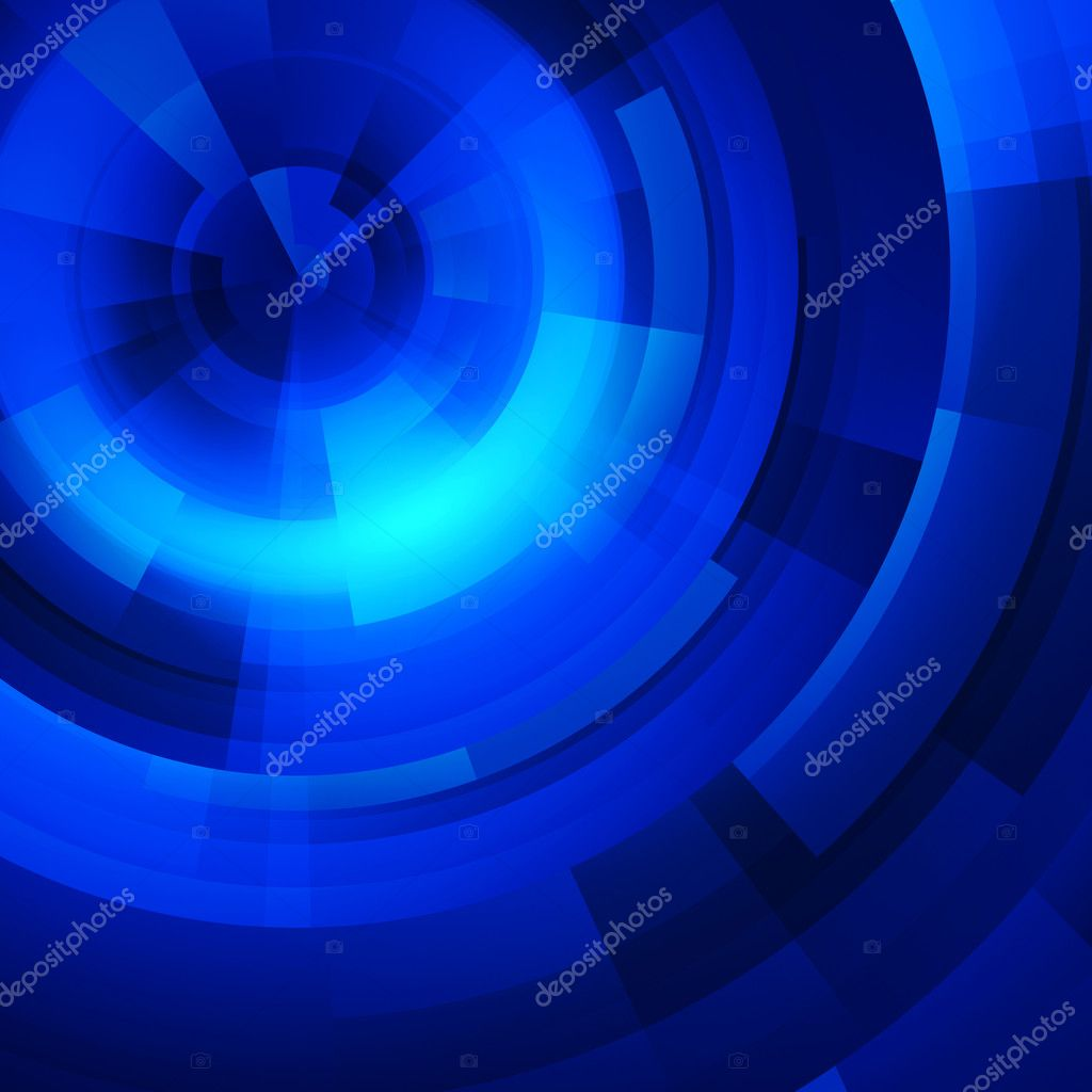 Abstract background blue circles of rectangular — Stock Photo #1636187
