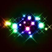 Cruciform lights on the dark — Stock Photo