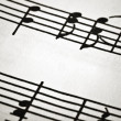 Stock Photo: Fragment of musical notation