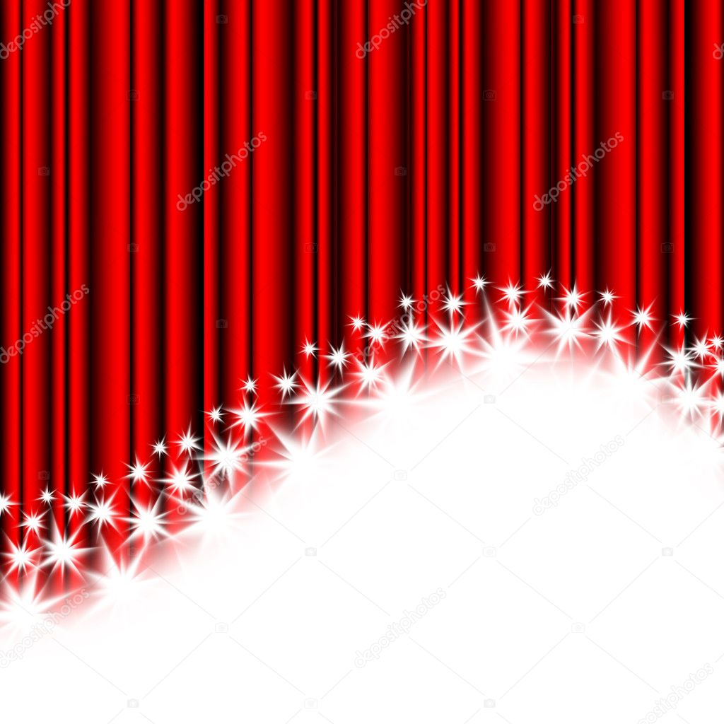 Red stripes and stars on a white background — Stock Photo #1663083