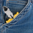 Royalty-Free Stock Photo: Pliers in a pocket