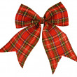 Stock Photo: Red bow out of Scottish material