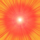 Radiant fiery outburst — Stock Photo