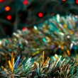 Christmas tinsel and lights — Stock Photo