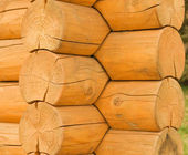 Sample timber frame — Stock Photo