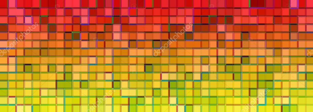	 	Banner of the iridescent  	multicolored squares on a white  Stock Photo #1703447