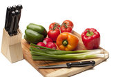 Vegetables on a kitcken bord — Stock Photo