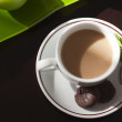 Stock Photo: Coffee mug with mint chocolate candies