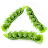 Natural green pea triangle — Stock Photo
