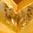 Pumpkin inside in heart shape — Stock Photo