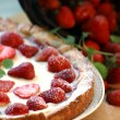 Strawberry summer cake — Stock Photo