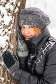 Linda menina de gengibre-cabelos — Foto Stock
