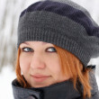Beautiful ginger-haired girl — Stock Photo #1985613