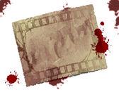 纹理的矩形与血滴 — 图库照片
