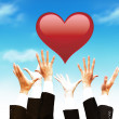 Hands and a heart — Stock Photo