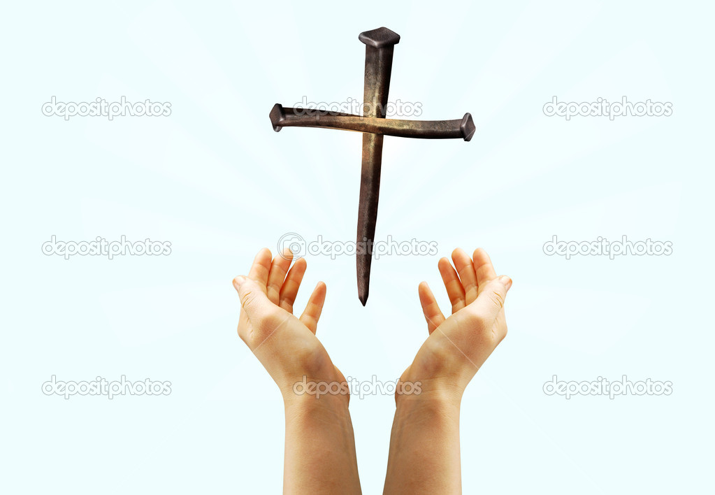 A cross which is made from three nails — Stock Photo #1692155