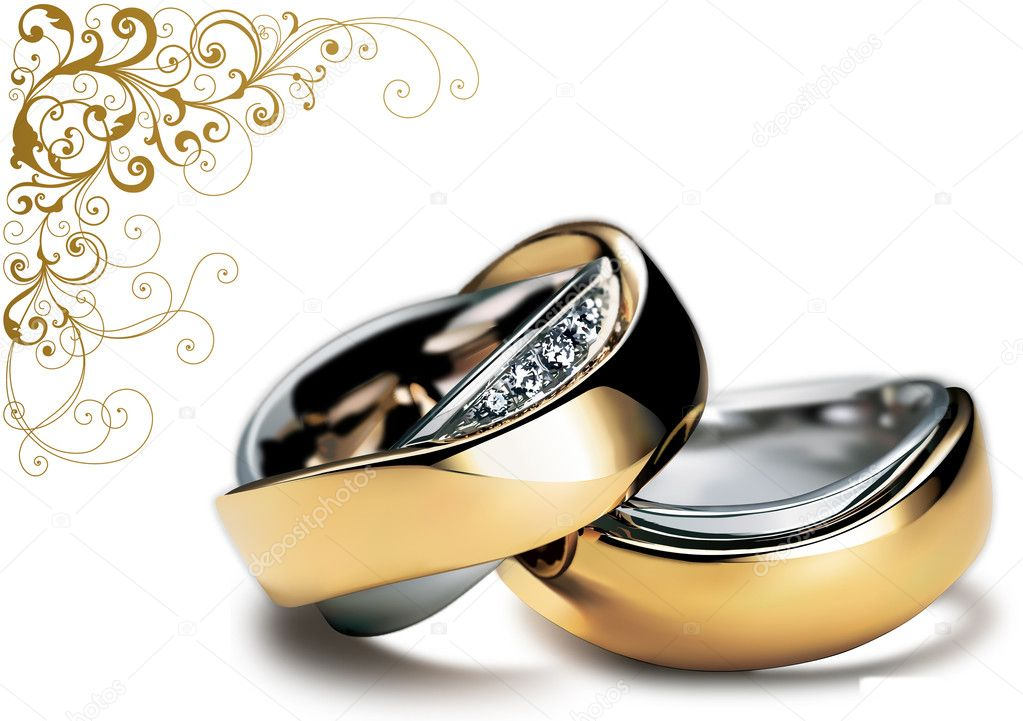 Nice shining wedding rings for your wedding design — Stock Photo #1729568