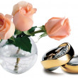 Roses And Rings — Stock Photo