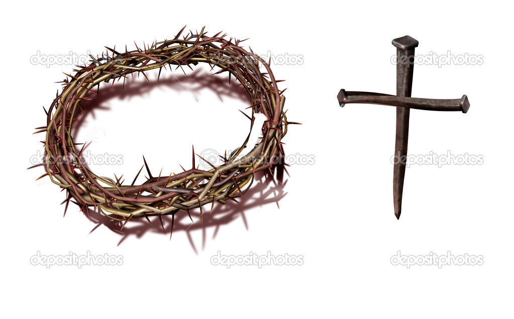 A nice combination with cross which consists nails  Stock Photo #1730187