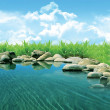 Nice lake — Stock Photo