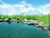 Nice lake — Stock Photo