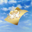 Royalty-Free Stock Photo: Flying Paper And Angels