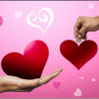 Two Hearts — Stockfoto