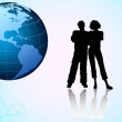 Earth And Couples — Stock Photo