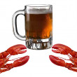 Crabs And Beer — Stock Photo #1813202