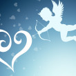 Royalty-Free Stock Photo: Heart aAnd an angel