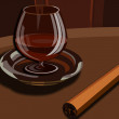 Foto Stock: Cognac and cigar