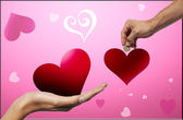 Two Hearts — Stock Photo