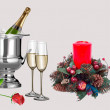 Chamaign and New Year — Stock Photo