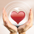 Heart and hands — Stock Photo
