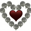 Ball heart — Stockfoto