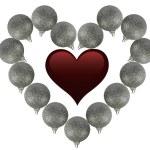 Ball heart — Stock Photo